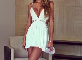 dress cut-out fit and flare dress skater dress
