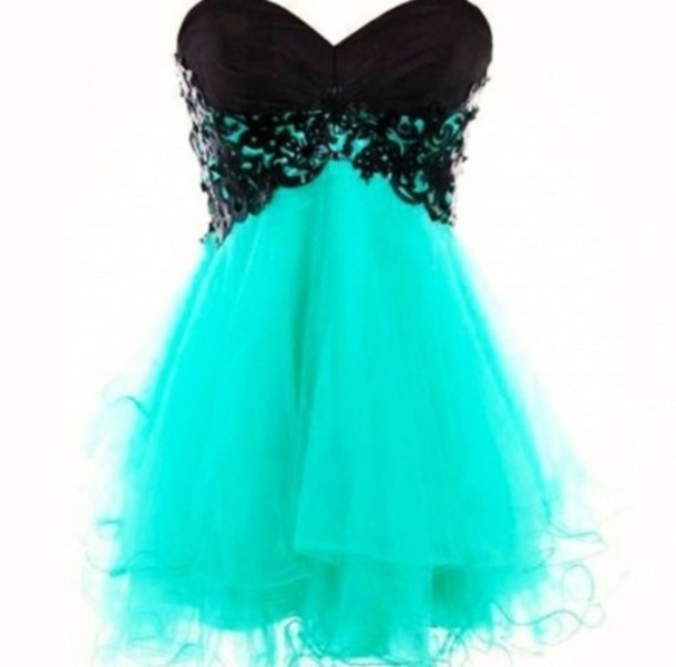 Homecoming Dresses Teal Short - Holiday Dresses