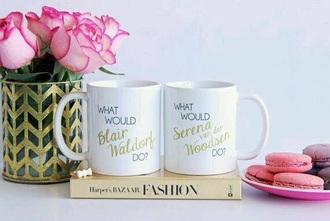 home accessory mug gossip girl serena van der woodsen blair waldorf