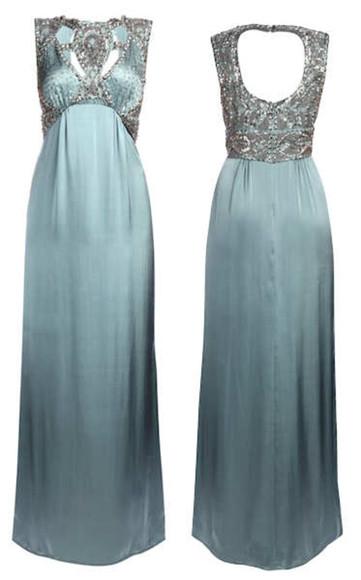 maxi dress silver silver dress princess dress blue dress fantasy