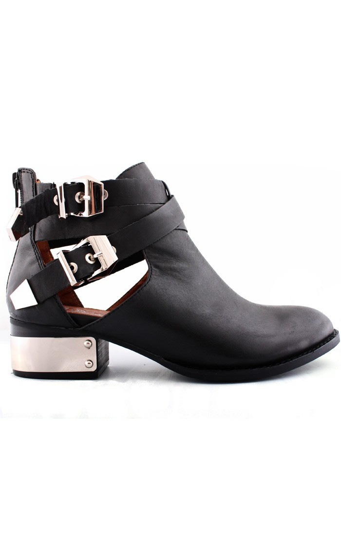 Everly Pl Boots  Black Silver by Jeffrey Campbell | ARCHFASHION