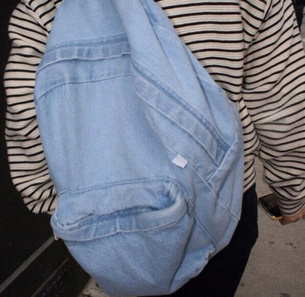 bag cool tumblr pale soft grunge grunge messy demin