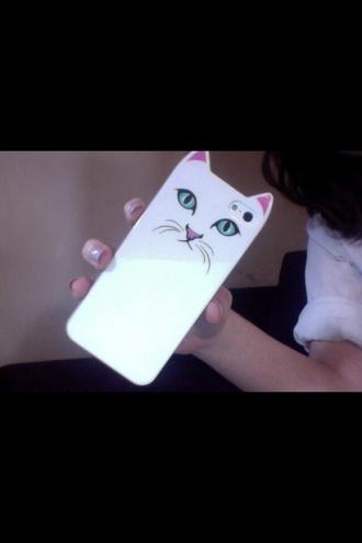 cat eye tumblr white phone case