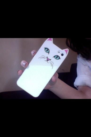 cat eye white phone case tumblr