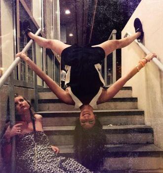 romper nina dobrev instagram shorts top