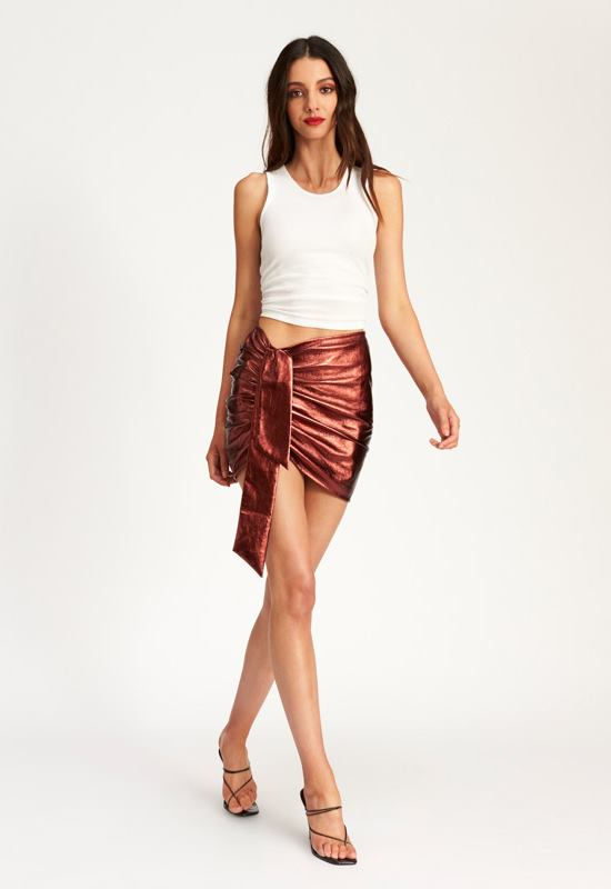 Diamonds In The Sky Mini Skirt - RUST - Lioness
