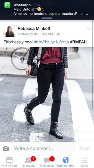 jeans rebecca minkoff fall outfits chic chicityfashion
