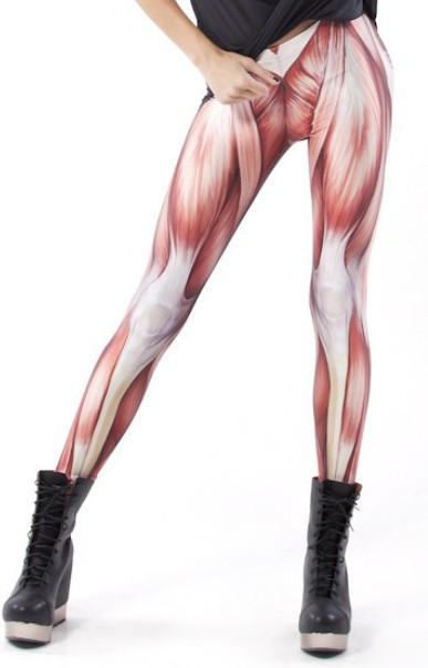 Women muscles leggings.black milk leggings