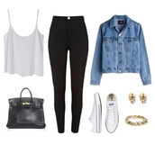 blouse,white,shirt,tank top,top,baggy,cute outfits,outfit,jacket,denim jacket,black leggings,black,converse,white sneakers,pants,chic,tumblr,bag,skull,earrings,studs,braclet,leggings,jeggings,jeans,winter outfits,fall dress,high waisted,plain white tank top,shorts,black high waisted jeans,t-shirt,denim,black jeans,high waisted jeans,jewels,white crop tops