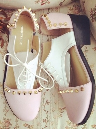 shoes pink pink shoes spikes cute shoes cute cut out shoes studded shoes kawaii accessory