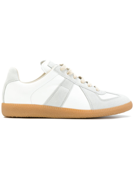 MAISON MARGIELA women sneakers leather white suede shoes