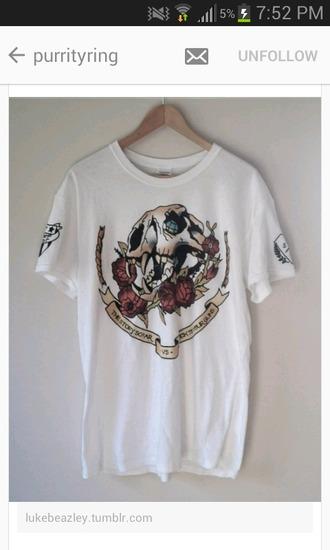 t-shirt the story so far skull roses mens t-shirt