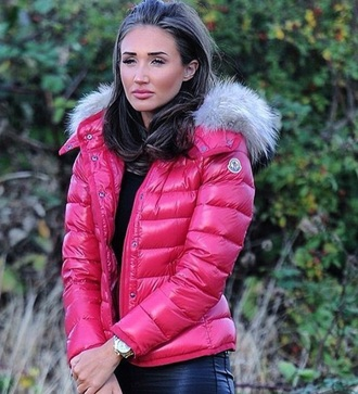 coat towie celebrity style pink puffer jacket