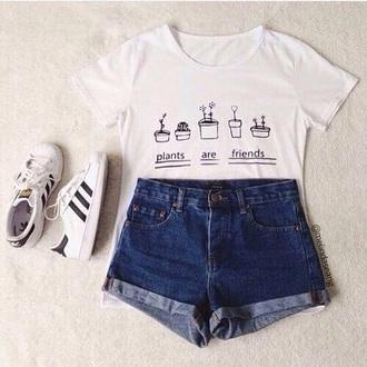 shirt tumblr plants cute aesthetic graphic tee