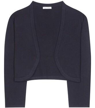 cardigan silk blue sweater