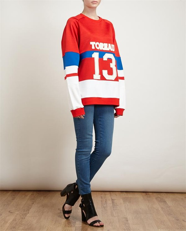 sweater unisex logo motif sweatshirt logo toreau sweatshirt