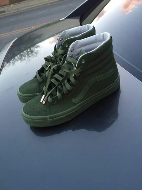 shoes vans green hightop