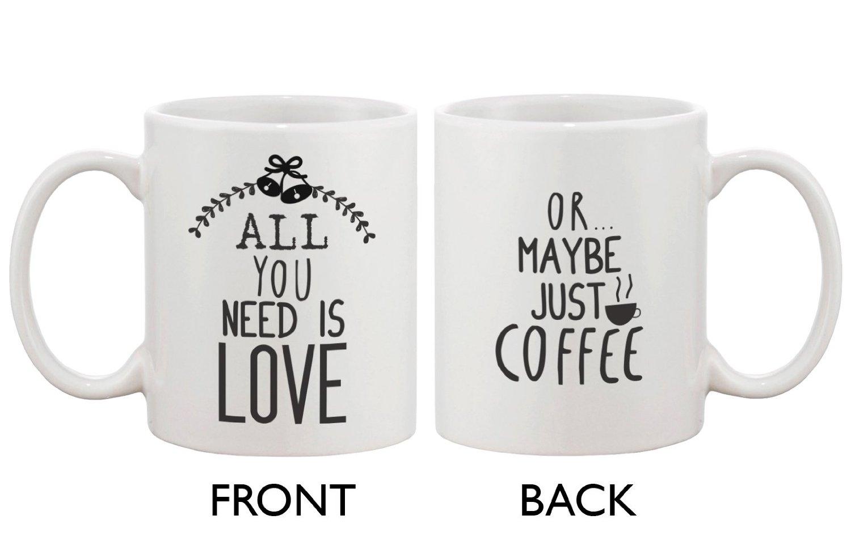 Cute Holiday Coffee Mug All You Need Is Love