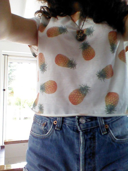 levi's levis shorts pineapple print pineapple shirt t-shirt necklace netherlands
