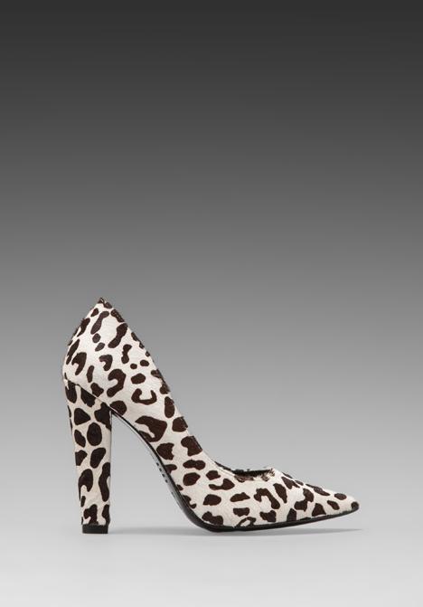 NICHOLAS Darcy Pump in Black/White Leopard - New