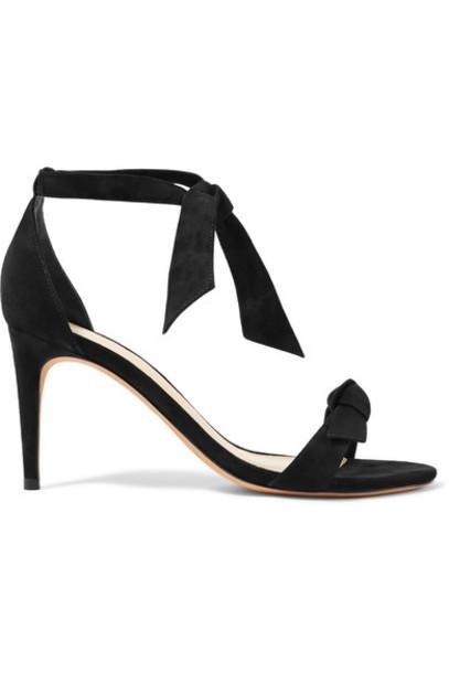 Alexandre Birman bow embellished sandals suede black shoes