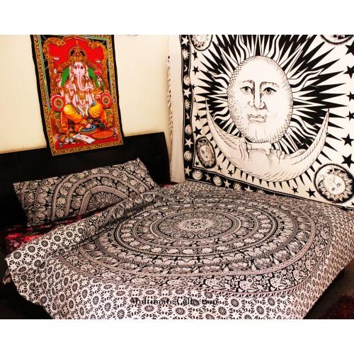 Elephant Flower Duvet Cover and Pillow Case