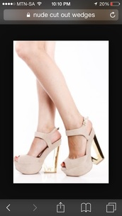 shoes,nude,beige,cream,neural,wedges,cut-out,clear,glass,platform shoes,high heel,heels,ankle strap,peep toe,booties,prom,formal,strappy,crystal