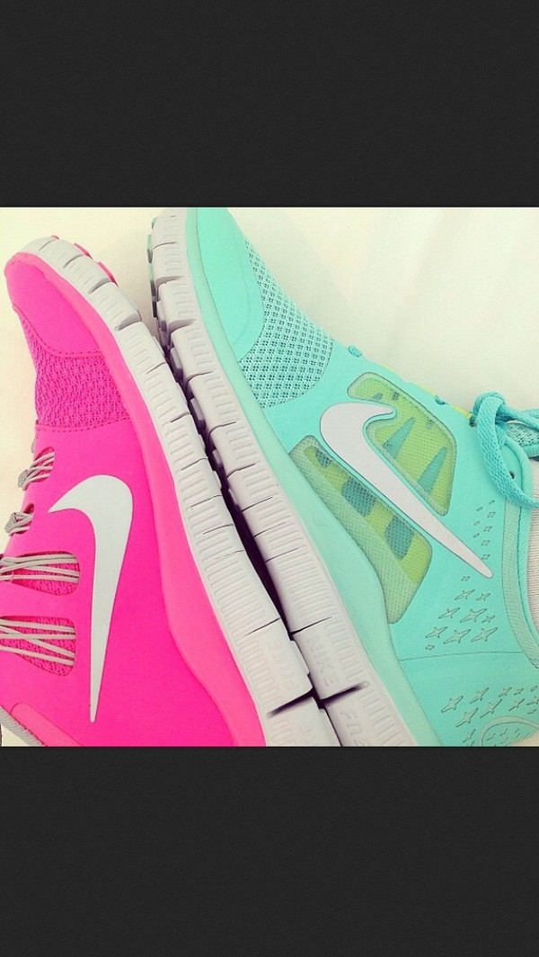 shoes blue light blue pink nike nike shoes