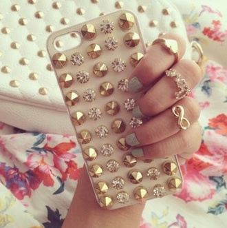 jewels iphone case phone cover iphone cover dots iphone cover glitter