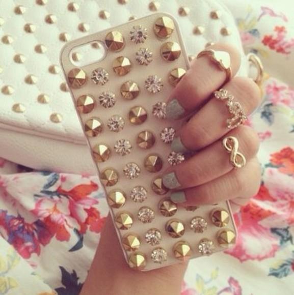 dots phone case iphone case iphone cover glitter jewels iphone case