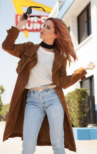 coat jeans blogger ashley tisdale fall outfits