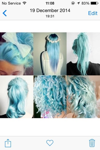 hair accessory dye hair dye blue mint dip dyed