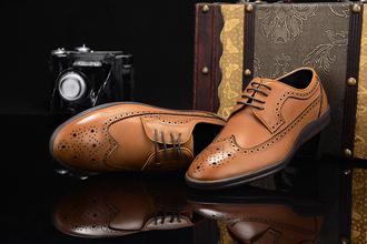 shoes fuguiniao oxfords brown shoes wingtip lace up mens shoes men oxfords shoes fashion classic