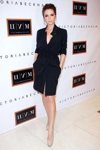 dress black dress victoria beckham
