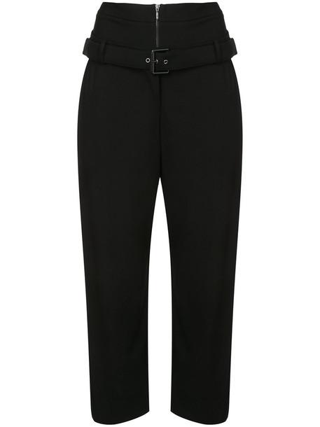 OSKLEN cropped women black pants