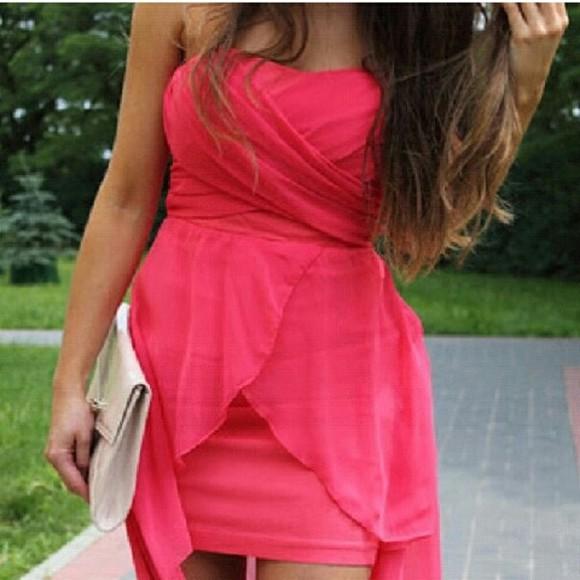 pink dress pink pink prom dress neon dress dress pink