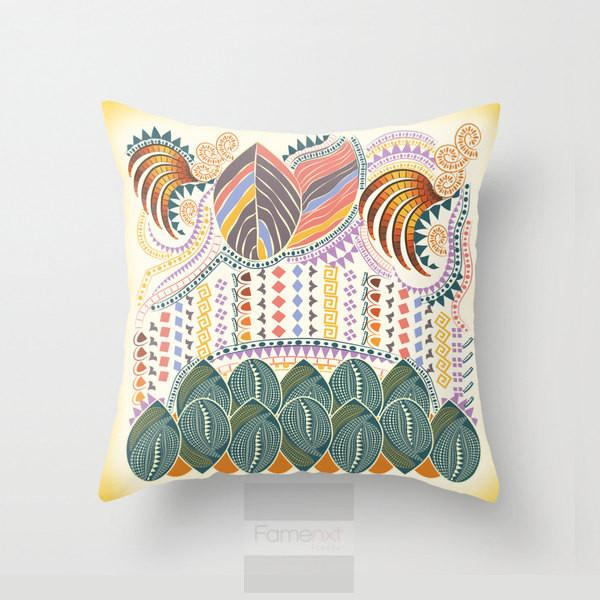 Decorative Indian Pattern Throw Pillow Case