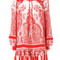 Alexander mcqueen - paisley print dress - women - silk - 46, red, silk
