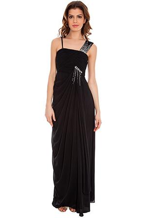 Hitched Chiffon Maxi Dress