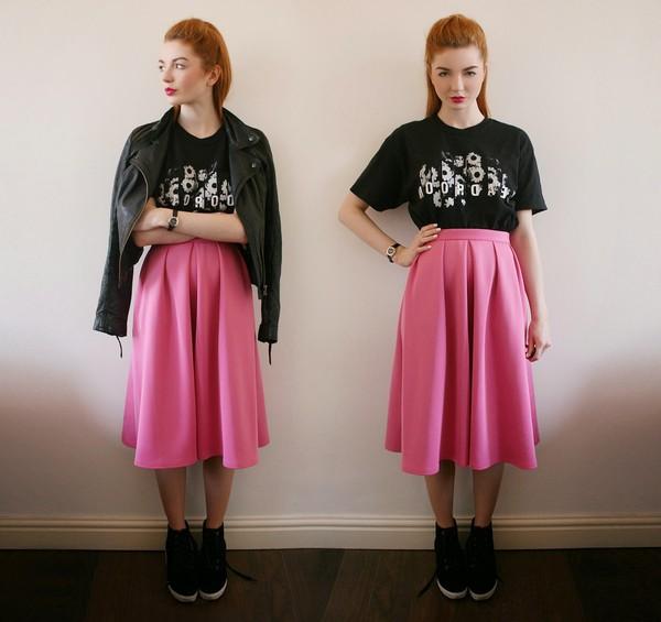 hannah louise fashion skirt shirt jacket shoes