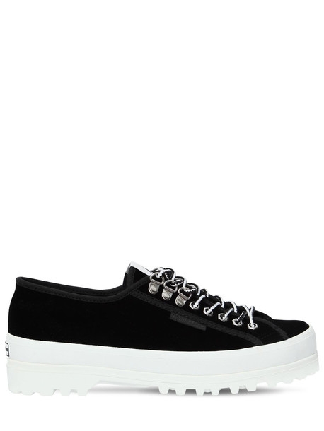 ALEXA CHUNG Superga 40mm Velvet Sneakers in black