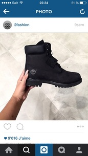 shoes,boots,timberland,style,black dress,cool,love,black,good,wont,this,black boots,timberlands,timberland boots shoes,timberlands boots,black shoes,flat boots,black timberlands