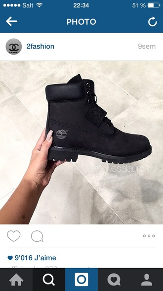 shoes boots timberland style black dress cool love black good wont this black boots timberlands timberland boots shoes timberlands boots black shoes flat boots black timberlands winter outfits winter boots tumblr