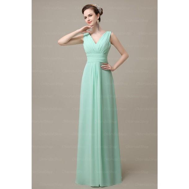 dress off the shoulder mint bridesmaid chiffon