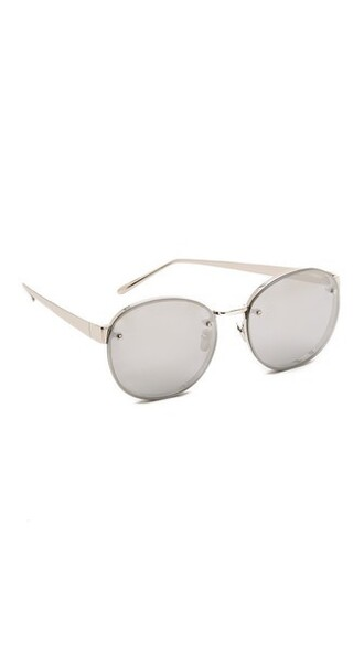 sunglasses round sunglasses gold white