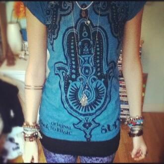 t-shirt undefined henna shirt trippy bangles bracelets jewellery