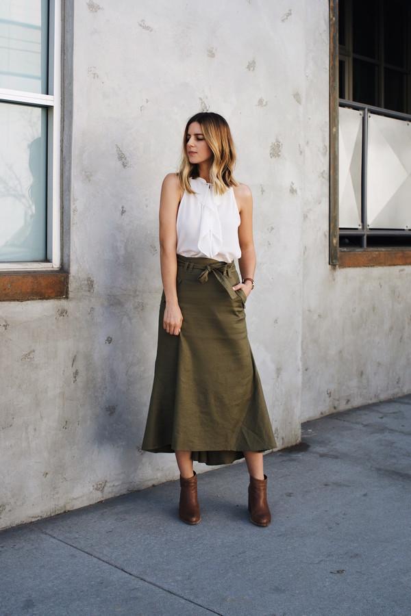 a8c87e2afe17 A.L.C. Jean Tie Waist Linen Skirt at INTERMIX | Shop Now | Shop ...