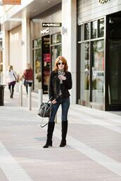 themiddlepage,blogger,jacket,blouse,jeans,shoes,bag