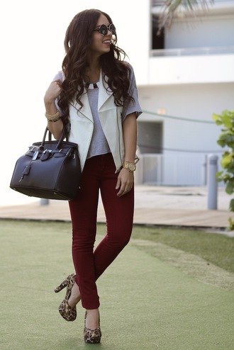 nany's klozet shoes t-shirt jacket jeans jewels bag sunglasses