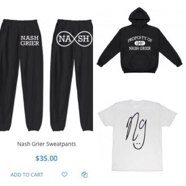 magcon nash grier sweatpants black